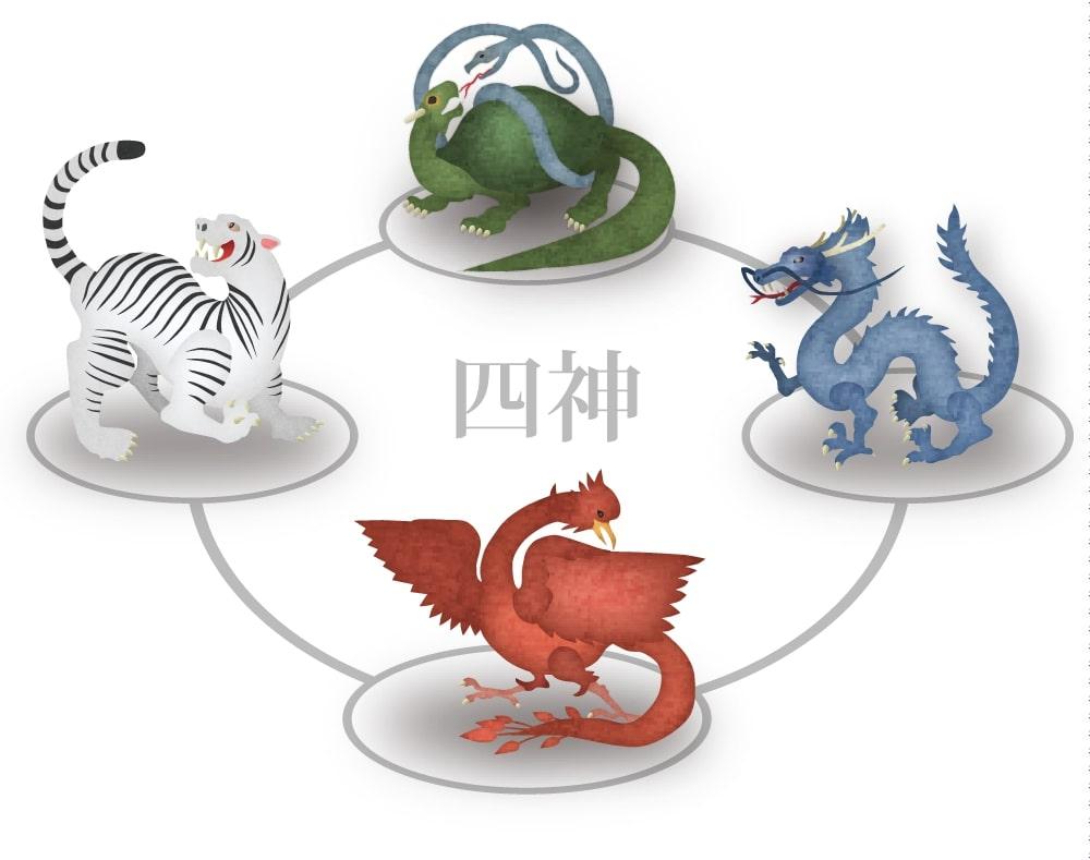 四神獣のイラスト